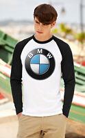 BMW Men Women Long Sleeve T-Shirt Beemer Unisex Tee Shirt Baseball Raglan Top 2