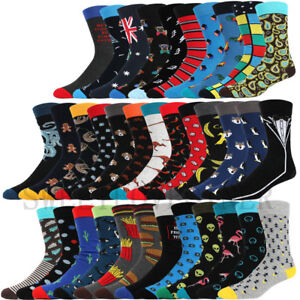 Mens Combed Cotton Socks Funny Animal Fruit Novelty Dress Sock For Wedding Gifts
