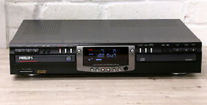 PHILIPS CDR765 Hi-Fi CD player CD recorder DOUBLE DECK Excellent 99p NR
