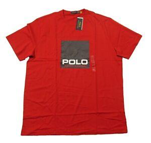 Polo Ralph Lauren Big & Tall Men's Red Box Logo Graphic Short Sleeve T-Shirt