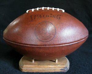 NICE Early Old Antique 1950's SPALDING J5-V Leather Football Vintage Pigskin