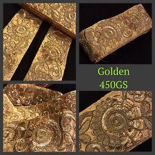 9 metros ZARI bordado elegante oro recortar Saree Tejido frontera cose en Encaje Lentejuelas