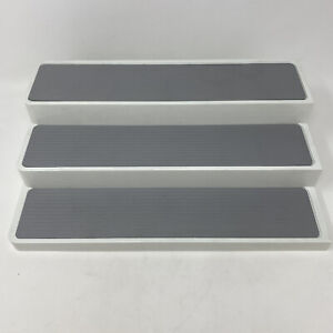 Rubbermaid Stackable Retractable Adjustable Rubber Mat 3 Level Spice Rack