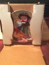 """Emmett Kelly """"Christmas Feast"""" 1989 Collector's Plate By Dave Grossman IN BOX"""