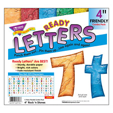 Rock n' Stones 4-Inch Combo Classroom Display Ready Letters - 225 Characters