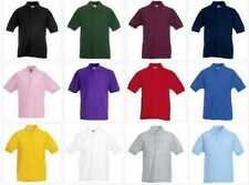 Fruit of the Loom Boys' Polo Neck T-Shirts & Tops (2-16 Years)