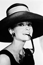 Audrey Hepburn In Hat Holding Glasses 11x17 Mini Poster