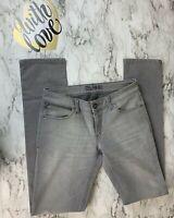 New DL1961 Anthropologie Womens 28 Audrey Slim Straight Gray Denim Jeans