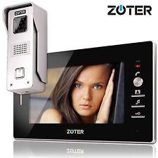 "7"" inch Monitor Wired Video Door Phone Entry Intercom + 600TVL HD Silver Camera"