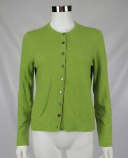 Boden Womens Green Long Sleeve Button Front Career Cardigan Sweater Size 14