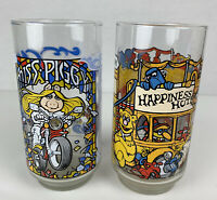 Vintage 1981 Muppets Mcdonald's Drinking Glasses Set Of 2 Miss Piggy