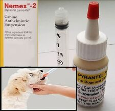 Pyrantel Pamoate Suspension  Dog Cat Wormer 120ml bottle FREE SHIPPING Nemex-2