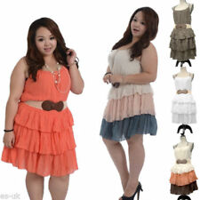 Cotton/Polyester Casual Plus Size Dresses for Women