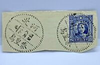 CHINA STAMP WITH UNILINGUAL CANCELS, AMAZING SUN YAT SEN ON-PAPER PIECE