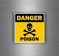 Autocollant sticker voiture moto tuning bomb danger poison tete de mort