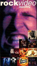 Rock Video Monthly Heavy Metal VHS April 1994 Gwar Wasp Mantissa Raging Slab