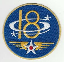 Patch US 18th Air Force USAAF - RARE en original - WWII REPRO