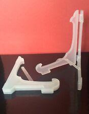 """100 x 5 """"de plástico Plegable placa soporte de exhibición Relojes tazones bookatrix Tarjetas Opaco"""