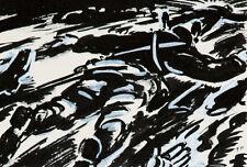 Frans Masereel Gefallene Soldaten Soldats tombés c.1941/1943 2. Weltkrieg Tusche
