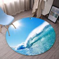 3D Sun Sea Waves 532 Non Slip Rug Mat Room Mat Round Elegant Photo Carpet AU