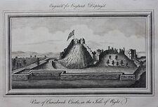 Original antique print CARISBROOKE CASTLE ISLE OF WIGHT 'England Displayed' 1769