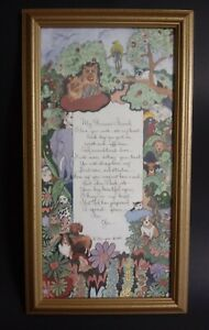 D. morgan Wall Art Framed Picture My Precious Friend Poem Pet Cat Dog Animal