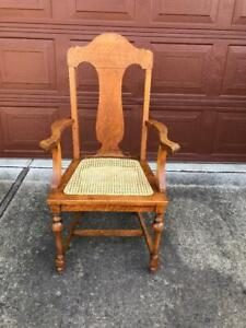 Vintage Natural Cane and Rattan Chair