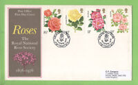 G.B. 1976 Roses set on Post Office First Day Cover, Northampton