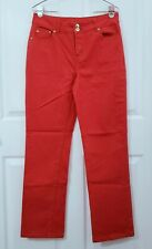 Spirited Randolph Duke Size 10 Womens Coral Red/Orange Denim Jeans Straight Leg