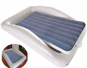 Toddler Air Bed w/Detachable Mattress Safety Sides, Inflatable w/Electric Pump
