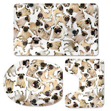 Fashion Animal Design Toilet Seat Cover Set Decoration 3 pcs Shower Bathmat Rugs