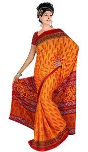 Chiffon Bollywood Karneval Sari Orient Indien Fo309
