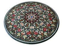 """42"""" Marble Center Table Top Mosaic Inlay Marquetry Living Room Mosaic Home Decor"""