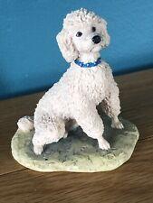 More details for bevintage border fine arts white poodle figurine 1983  ayres dog ornament