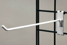 """Lot of 50 New or Retail White 12"""" Grid Hook for 3"""" O.C. Gridwall"""