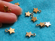 20 GOLD STAR Charm Pendentif Antique Gold Beads Jewelry Making Wholesale WV36
