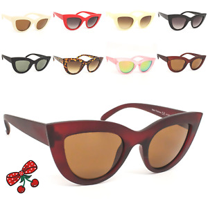 Women's Rockabilly Vintage Cat eye Sunglasses Retro 50's 60's Pin Up Pointy Tip