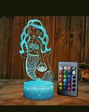 XEUYUTR Mermaid LED Night Light Gifts The Little Mermaid Princess 16 Colours