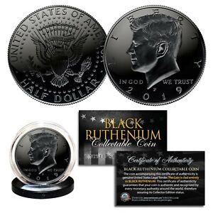 BLACK RUTHENIUM 2016-P JFK Kennedy Half Dollar U.S. Coin COA (Philadelphia Mint)