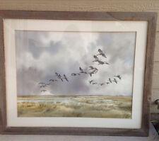 Robert W Milliken large ORIGINAL Watercolor birds flying