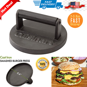 Cuisinart Smashed Burger Grill Press Cast Iron Heavy Duty Weight CISB-111