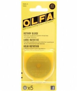 Olfa Rotary Cutter Replacement Bade Pack of 5