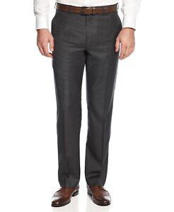 Lauren Ralph Lauren Men's Ultra Flex Dress Pants Size 60 NWT Charcoal Gray Wool