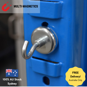 5 Neodymium Christmas Pot Magnet With Hook 48mm Diameter, 81kg Pull, Heavy Duty