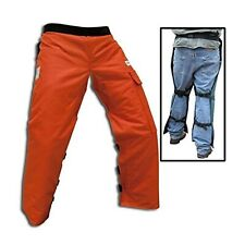 "Forester Chainsaw Safety Chaps with Pocket, Apron Style (Short 35"", Orange)"