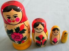 Russian Semenov Nesting Doll Set/4-pcs/Original Hand Crafted/Free Shipping In Us