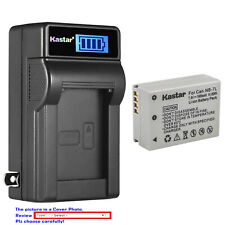 Kastar Battery LCD Wall Charger for Canon NB-7L & Canon PowerShot G11 Camera