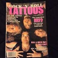 Rock N Roll Tattoos Magazine KISS Cover + Poster Simmons Stanley Kulick Singer