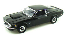 1970 Ford Mustang Boss 429 Black Motormax 73154 1/18 Scale Diecast Model Toy Car
