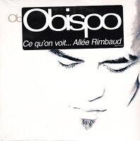 CD CARTONNE CARDSLEEVE 2T PASCAL OBISPO CE QU'ON VOIT, ALLEE RIMBAUD NEUF SCELLE